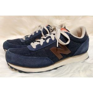 NEW BALANCE 501 denim/suede sneakers